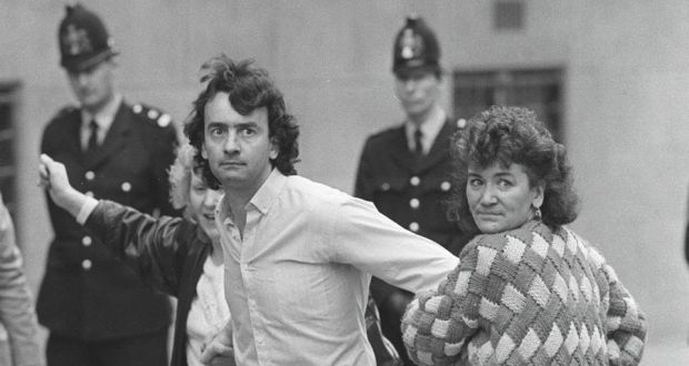 Gerry Conlon (1954-2014) pictured 1989 when his conviction for the 1974 Guildford pub-bombings was quashed by the Court of Appeal